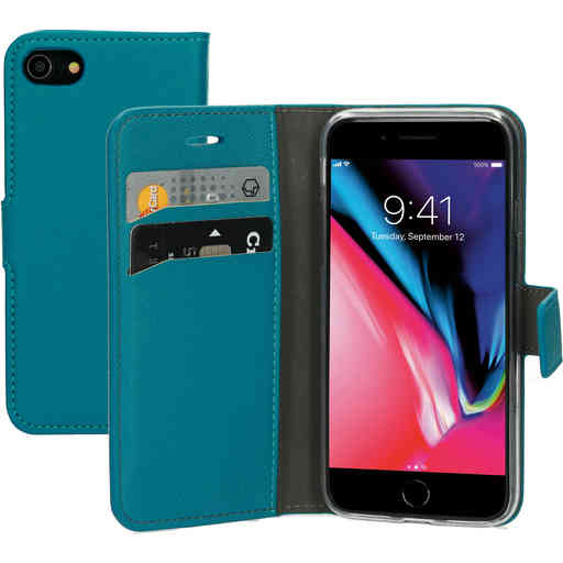 Mobiparts Saffiano Wallet Case Apple iPhone 7/8 Turquoise