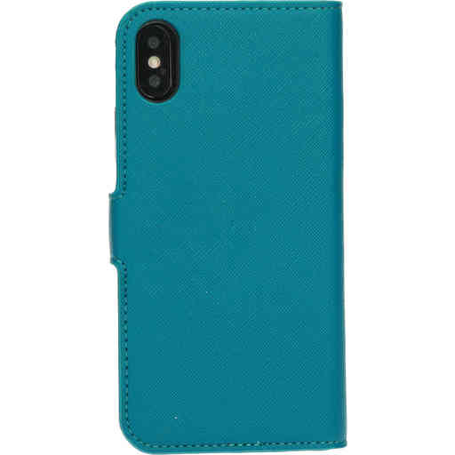 Mobiparts Saffiano Wallet Case Apple iPhone X/XS Turquoise
