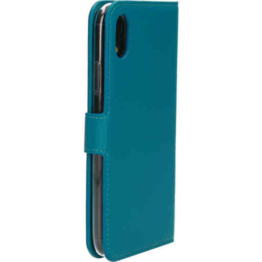 Mobiparts Saffiano Wallet Case Apple iPhone XR Turquoise