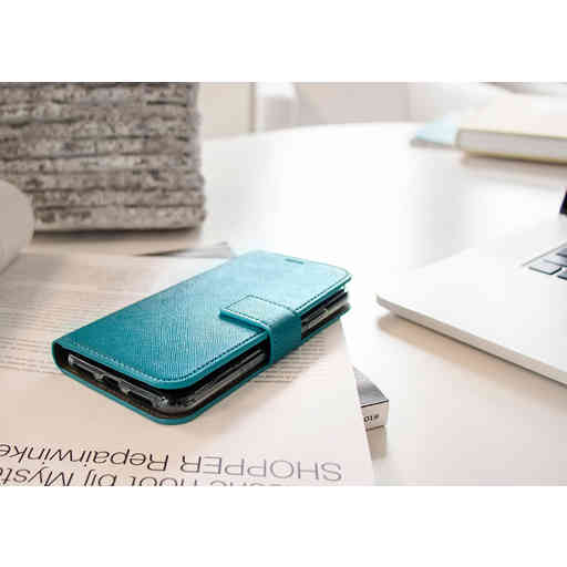 Mobiparts Saffiano Wallet Case Samsung Galaxy S10 Turquoise