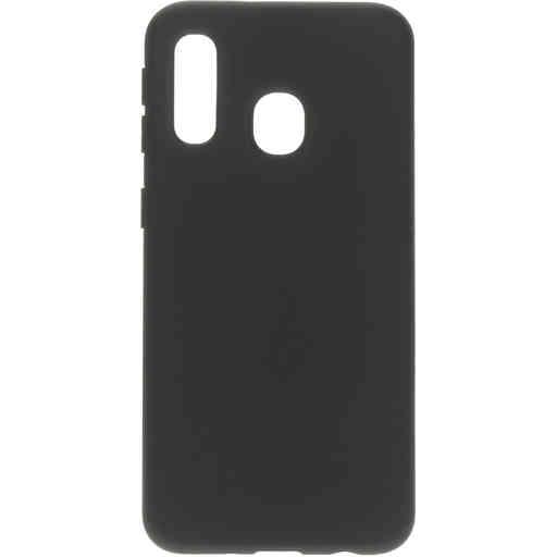 Mobiparts Silicone Cover Samsung Galaxy A40 (2019) Black
